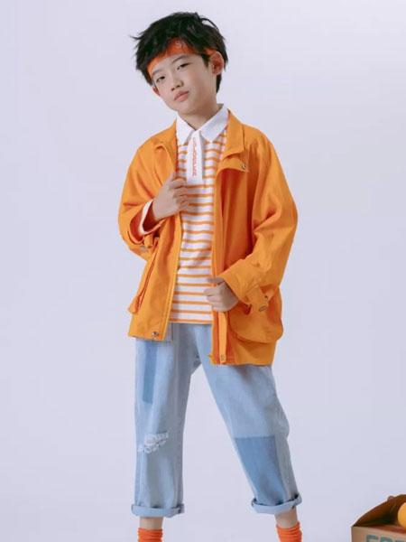 彩色笔童装品牌2020春夏新款纯色长袖外套