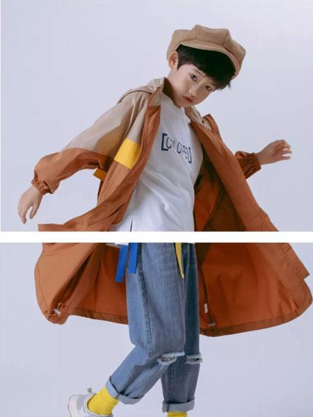 彩色笔童装品牌2020春夏新款纯色长袖长款大衣