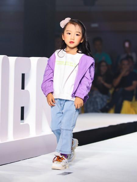 Maomier猫咪儿童装品牌2020春夏新款纯色简洁拉链外套