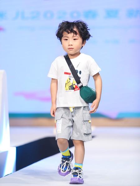 Maomier猫咪儿童装品牌2020春夏新款纯色图案简洁上衣