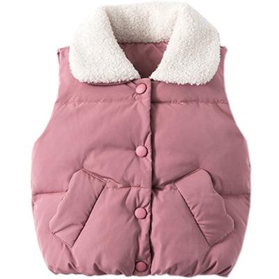 啊咪啦Amila童装品牌2019秋冬加厚保暖背心1-3岁女童洋气坎肩
