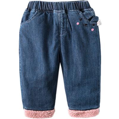 啊咪啦Amila童装品牌2019秋冬裤子婴幼儿保暖长裤女童加厚休闲裤