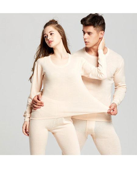 天汇纺织童装品牌2019秋季美利奴纯羊毛打底保暖内衣套装