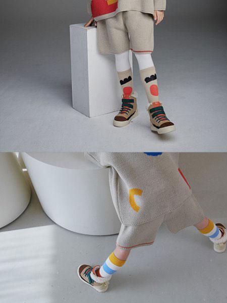 Roanjane童装品牌2019秋冬零针织裤