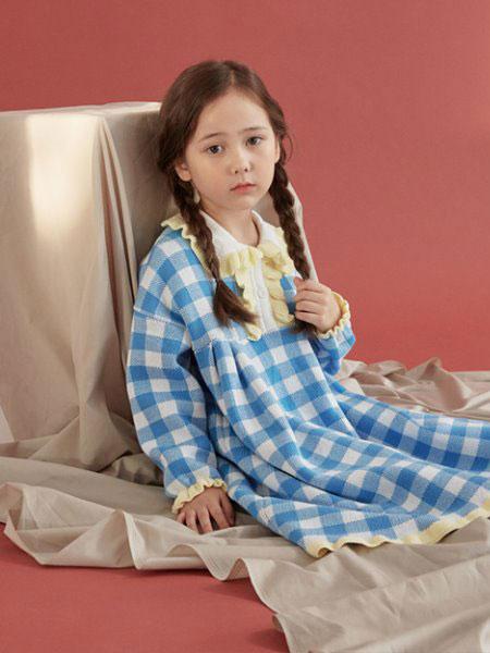 Roanjane童装品牌2019秋冬Meinite连衣裙(Sora格纹)