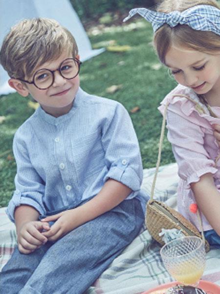 Curlysue童装品牌2020春夏新款纯色气质纽扣衬衫