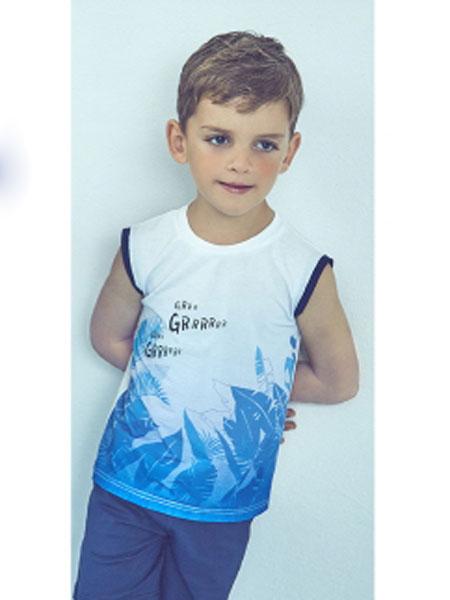 Curlysue童装品牌2020春夏新款无袖图案上衣