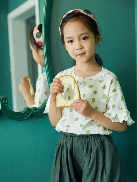 V-rules童装品牌2020春夏新款纯色简洁波点短袖上衣