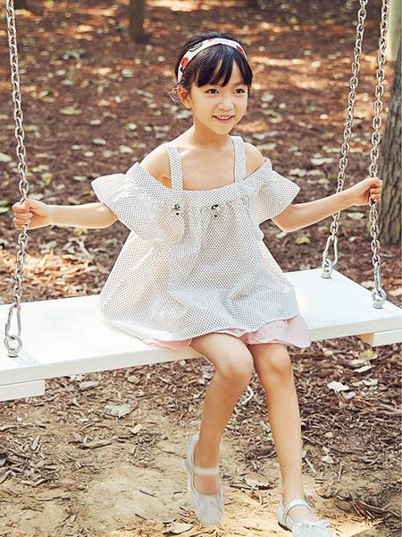 V-rules童装品牌2020春夏新款纯色吊带公主裙