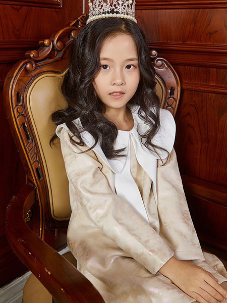 V-rules童装品牌2020春夏新款长款衬衫式连衣裙