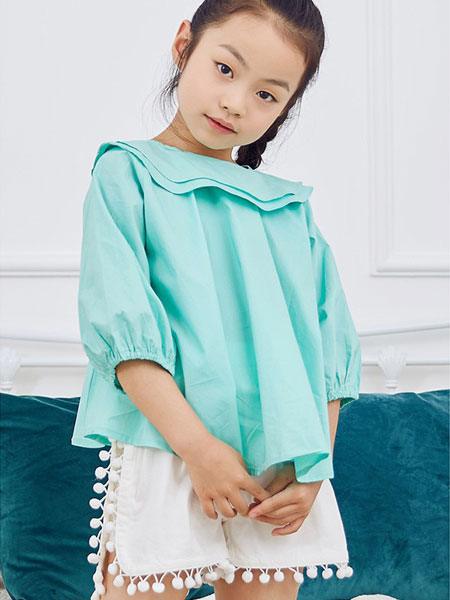 V-rules童装品牌2020春夏新款纯色长袖衬衫