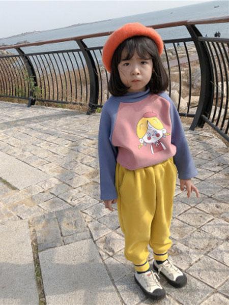 果果熙童装品牌2020春夏男女童印花小高领保暖上衣儿童加绒加厚打底衫