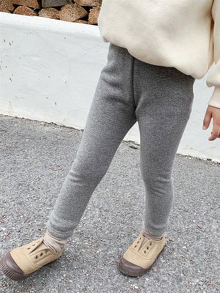 果果熙童装品牌2020春夏新款儿童弹力紧身裤时髦韩版宝宝不倒绒长裤