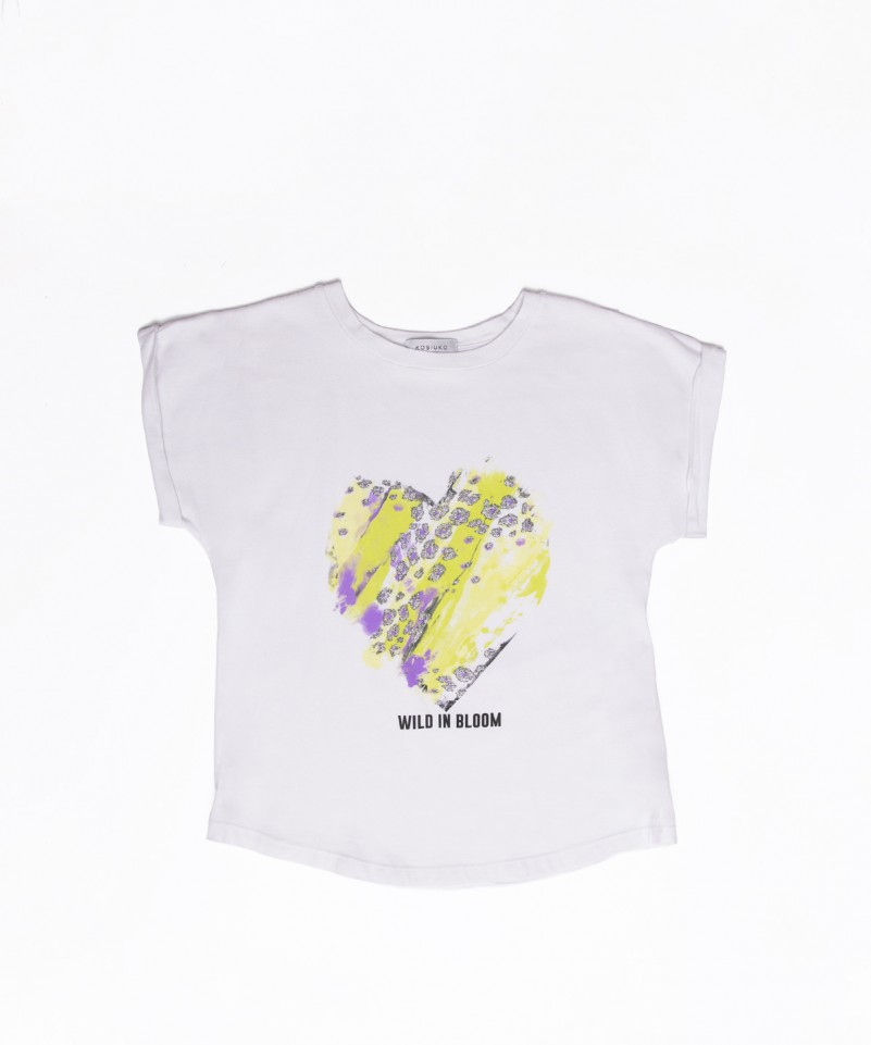 Kosiuko童装品牌2020春夏新款印字短袖上衣