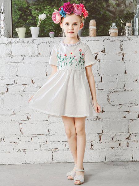 V-LOVE (唯乐儿)童装品牌2020春夏新款印花连衣裙