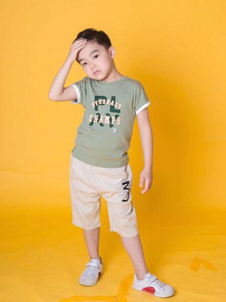 麦乐鸭童装品牌2020春夏新款简洁图案短袖上衣