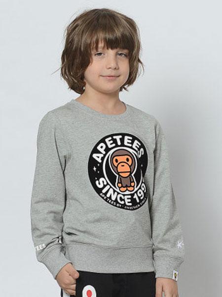 安逸猿童�b品牌2020春夏新款一家三口�b�D案短袖t恤母女款潮牌