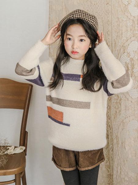 女童毛衣2019秋冬新款韩版儿童长袖针织衫中大童圆领秋款一件代发