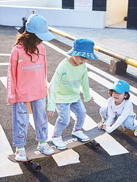 小资范童装品牌2020春夏新款糖果色印字长袖上衣