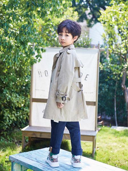 小资范童装品牌2020春夏新款男童气质大衣