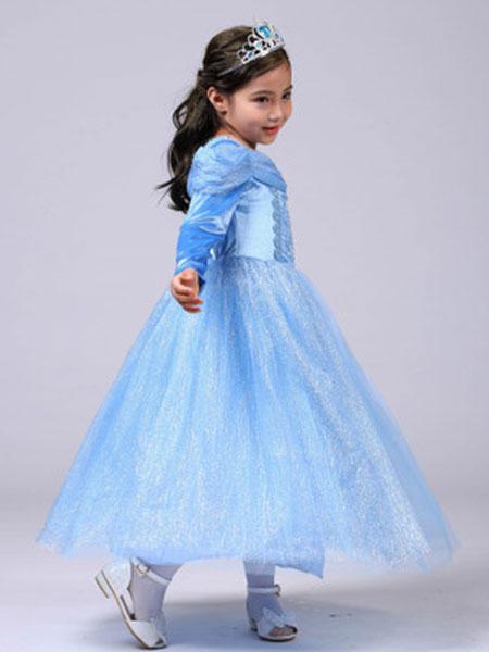 珞蓓儿童装品牌2020春夏公主裙冰雪奇缘女童连衣裙礼服裙豪华版艾莎女王裙子