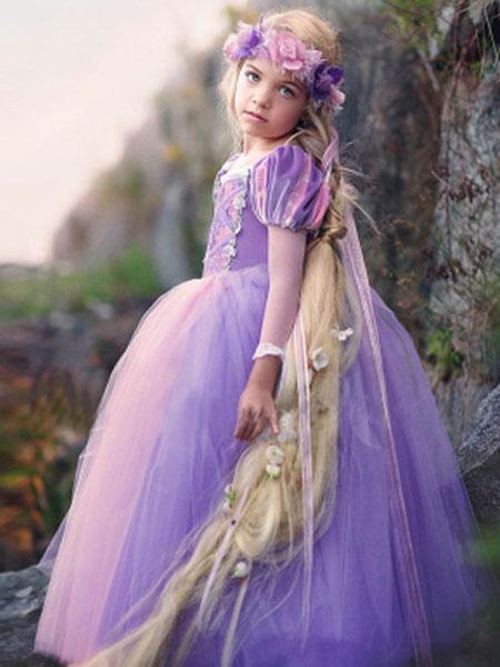 珞蓓儿童装品牌2020春夏中大女童乐佩公主夏款公主裙蓬蓬裙子
