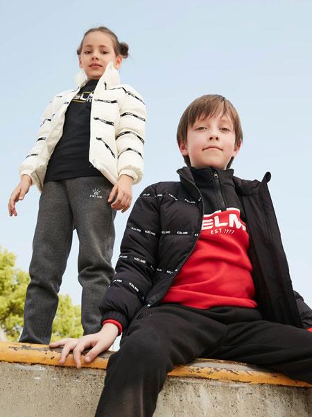 kelme(kids)男童2020新款洋气儿童羽绒冬外套羽绒服休闲中大童