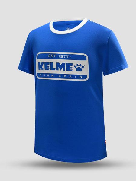 kelme卡尔美夏季新款儿童T恤男女训练运动上衣透气速干圆领跑步