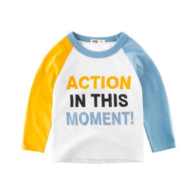 童装2019年秋季童装 男童长袖T恤纯棉儿童服装宝宝打底衫