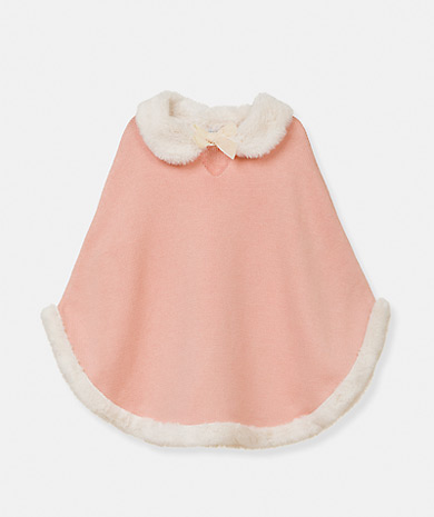 Lanidor童装品牌2020春夏人造丝针织披肩,天鹅绒蝴蝶结