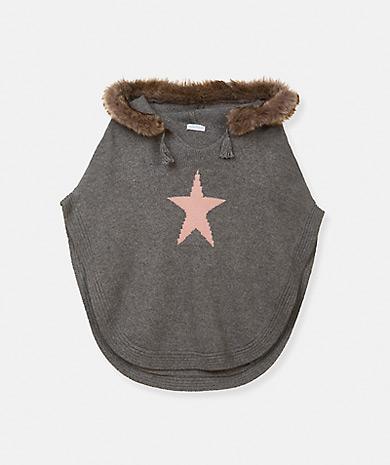 Lanidor童装品牌2020春夏带帽的 星形针织披肩