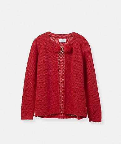 Lanidor童装品牌2020春夏绒球针织外套