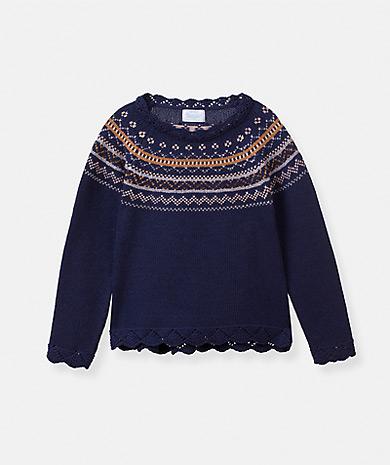 Lanidor童装品牌2020春夏提花针织毛衣