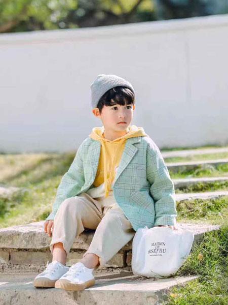 木子MUUZI童装品牌2020春夏新款纯色格子纽扣夹克