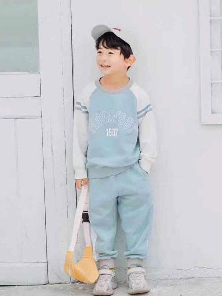 木子MUUZI童装品牌2020春夏新款纯色运动休闲套装