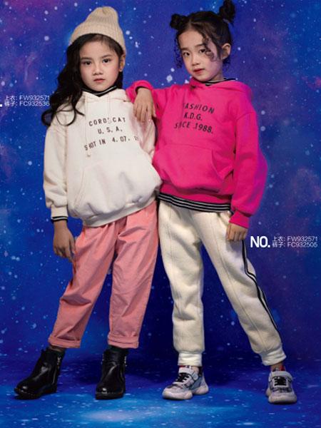 乖乖狗童装品牌2020春夏新款纯色印字个性卫衣