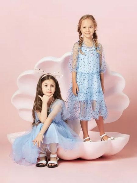 水孩儿souhait童装品牌2020春夏新款纯色透纱公主裙