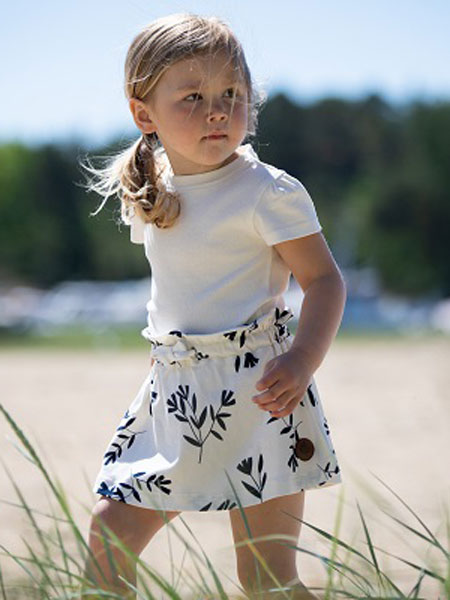 Gullkorn Design童装品牌2020春夏新款纯色针织短袖上衣