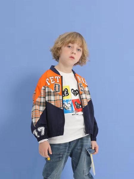 小才宝童装品牌2020春夏新款纯色图案个性外套