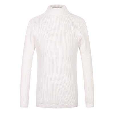 新款秋冬女童毛衣套头高领毛衫白色童装上衣