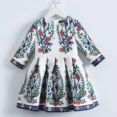 秋季新款森系长袖连衣裙 贝芮莱女童童装