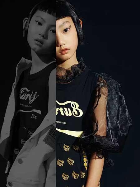 欧恰恰童装品牌2020春夏新款纯色个性图案上衣