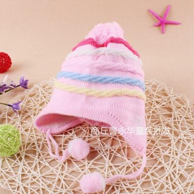 靓逗童装品牌2020春夏儿童保暖护耳毛线帽 宝宝加厚针织帽