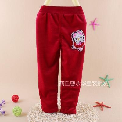 银狐绒男女宝宝打底裤 童罩裤 儿童弹性大套棉裤单裤