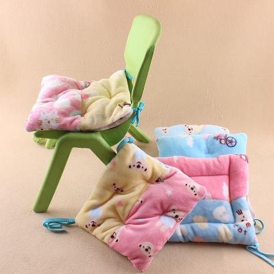 儿童毛绒卡通加厚柔软坐垫椅子坐垫宝宝推车坐垫学生坐垫