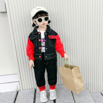 女童牛仔套装2020春款童装 中小儿童两件套女孩牛仔长袖韩版潮