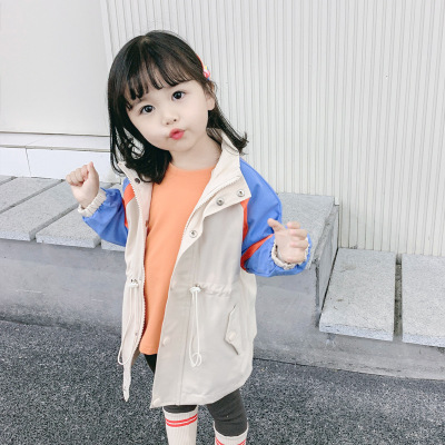 女童外套春款童装2020新款风衣韩版儿童洋气外套宝宝上衣中长款潮