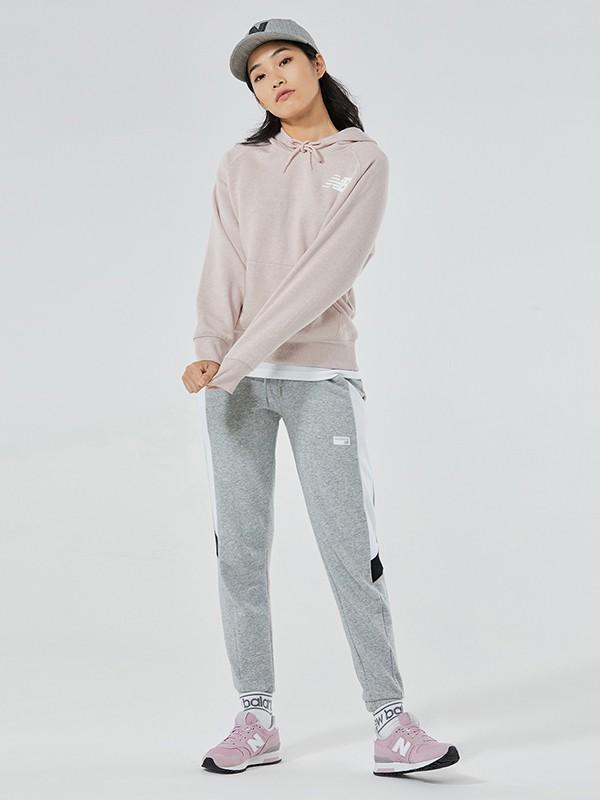 NewBalance童装品牌2020秋冬新款纯色经典小标带帽卫衣