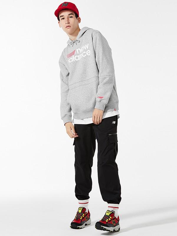 NewBalance童装品牌2020秋冬新款纯色印字带帽卫衣
