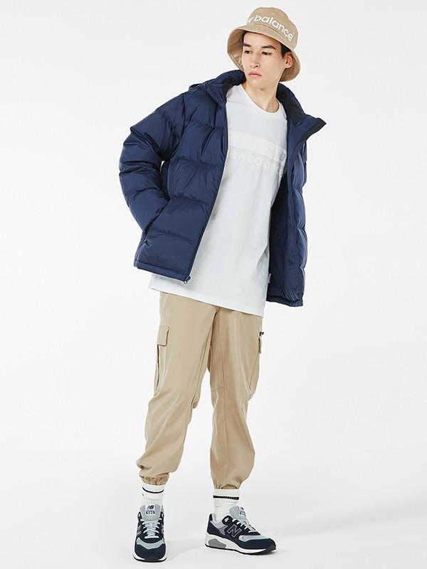 NewBalance童装品牌2020秋冬新款纯色经典小标羽绒服